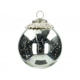 KERSTEN - Vánoční ozdoba koule, skleněná , stříbrná, 10.5cm (MAS-2256)