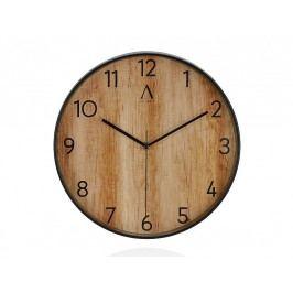Hodiny s dřevěným efektem O30x4,2cm - (AX16100)
