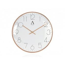 Měděné kovové hodiny O30x4cm - (AX16118)
