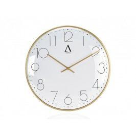 Zlaté kovové hodiny O30x4cm - (AX16119)