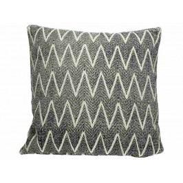 KERSTEN - Polštář černobílý, bavlna/polyester 45x45cm - (WER-0644)