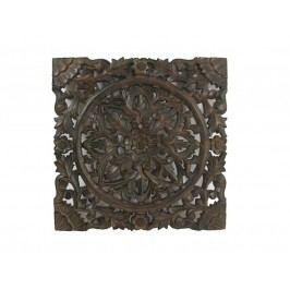 KERSTEN - Nástěnná dekorace HANDMADE, hnědá, 38x1.6x38cm - (LEV-3033)