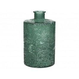 KERSTEN - Váza z recyklovaného skla, zelená, 9x9x16cm - (WER-0612)