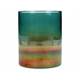 KERSTEN - Skleněný svícen, barevný, 10x10x12cm - (WER-1948)