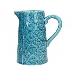 KERSTEN - Kameninová váza, modrá, 13,5x8,8x14,5cm - (WER-2279)