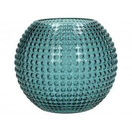 KERSTEN - Váza skleněná, petrolejová, 14,8x14,8x13cm - (WER-2159)