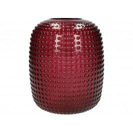KERSTEN - Váza skleněná, tmavěčervená, 16x16x19,5cm - (WER-2168)