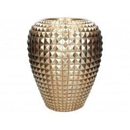 KERSTEN - Váza, polyresin, měděná, 29,5x29,5x35,5cm - (WER-1273)