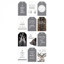 Bastion collections - Vánoční dárkové kartičky Winter 2015 (5,5x9cm)12x12ks - (BC-GIFTTAGS-WIN-15)