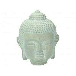KERSTEN - Hlava Buddhy, beton, šedá, 10.5x9x13.5cm - (LEV-9273)