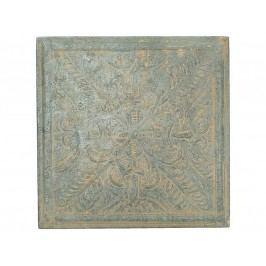 KERSTEN - Nástěnná dekorace, plech., hnědá, 28x2.5x28cm - (WER-2784)