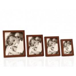 Fotorámeček hnědý, dřevo  13x18cm - (AX14217)