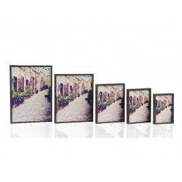 Fotorámeček šedý dřevěný 10x15cm - (AX64142)