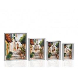 Fotorámeček bílý dřevěný 10x15cm - (AX64147)