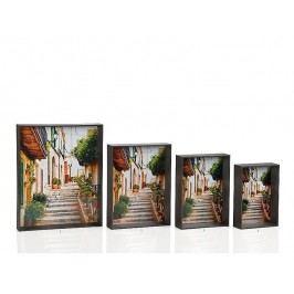 Fotorámeček dřevěný šedý 10x15cm - (AX64163)