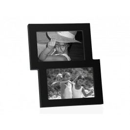 Fotorámeček černý dřevěný na 2fotky. 15x10cm - (AX64252)