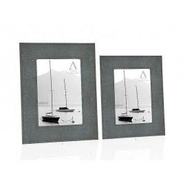 Fotorámeček šedý, koženka 10x15cm - (AX64288)