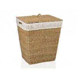 Koš na prádlo, mořská tráva, obdél. 50x40x50cm - (AX65036)