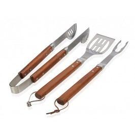 Barbecue set, nerezový/dřevo - (CC14065)