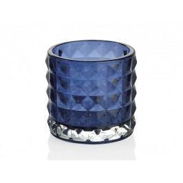 Svícen skleněný, modrý O7,5x7cm - (CR66230)
