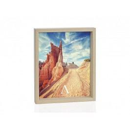 Fotorámeček přírodní dřevo 10x15cm - (AX66101)