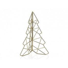 Vánoční stromeček, zlatý 16,8x14,7x24,8cm - (GF66246)