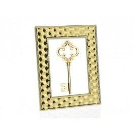 Fotorámeček zlatý, ocel 10x15cm - (AX16170)