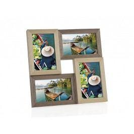 Fotorámeček dřevěný,kombinace barev, 4 fotky 10x15cm - (AX66109)