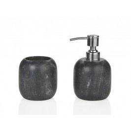 Zásobník na kartáčky, černý kámen - (BA65103)