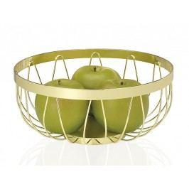Miska na ovoce, kovová, zlatá  O8,9x22,8cm - (CC16018)