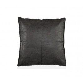 Polštář koženka, antracitový 60x60cm - (AX65029)