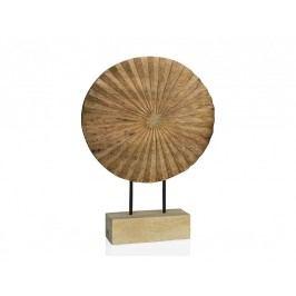 Soška slunce, dřevo 34x9x48cm - (AX66031)