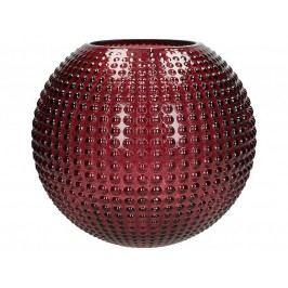 KERSTEN - Váza skleněná, tmavěčervená, 25x25x22,5cm - (WER-2167)