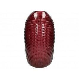 KERSTEN - Váza skleněná, tmavěčervená, 19,5x19,5x39,5cm - (WER-2170)