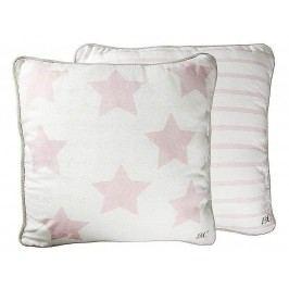 Bastion collections - Polštář 50x50 bílý/růžové hvězdy - (AN-STAR-50X50WH-RO)