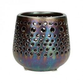 KERSTEN - Svícen, keramika, bronzový, 9x9x8,5cm - (WER-2331)
