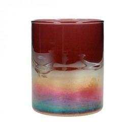 KERSTEN - Svícen, skleněný, multibarevný, 10x10x12cm - (WER-1953)