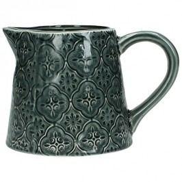 KERSTEN - Váza, kamenina, šedá, 14,4x10,7x9,7cm - (WER-2271)