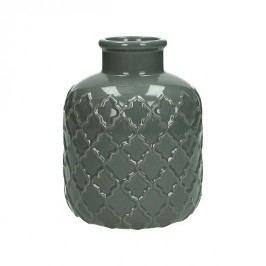 KERSTEN - Váza, keramická, šedá, 12,5x12,5x15,5cm - (WER-2023)