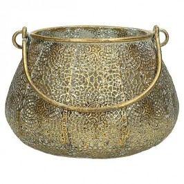 KERSTEN - Lucerna, kovová, zlatá patina, 14x14x10,5cm - (WER-1172)