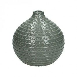 KERSTEN - Váza, keramická, šedá, 19x19x18,3cm - (WER-2031)