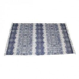 KERSTEN - Koberec, textilie, modrý, 180x120cm - (WER-0296)