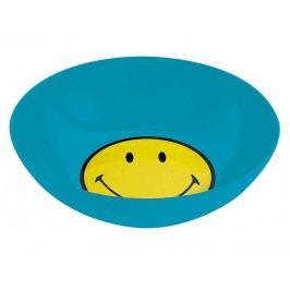 ZAK! designs - Snídaňový set, smiley, miska a lžička, melamin, modrý, O 17cm - (6662-2301)