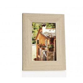 Fotorámeček, dřevo, přírodní, 10x15cm - (AX65177)