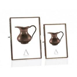 Fotorámeček, kovový, bronzový efekt, 10x15cm - (AX65208)