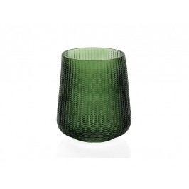 Váza, sklo, zelená, O18x25cm - (CR17199)