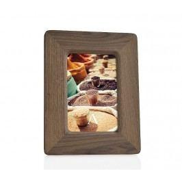 Fotorámeček, ořech, dřevěný, přírodní, 13x18cm - (AX65164)