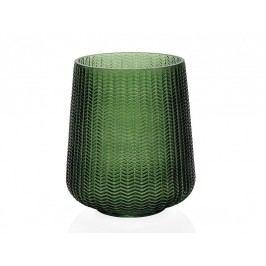 Váza, sklo, zelená, O20x23cm - (CR17200)