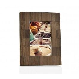 Fotorámeček, mozaika, ořechové, dřevo, hnědý, 13x18cm - (AX65186)