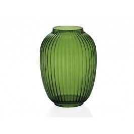 Váza, sklo, zelená, O16x19cm - (CR17198)